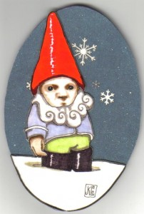 Gnome Ornament, by Janet K. Lee
