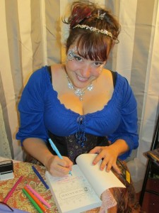 Signing at FaerieCon East 2013