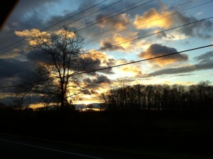 Sunset on the way to Newport News