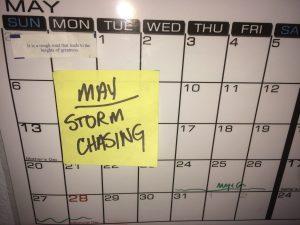 May Chasing Calendar